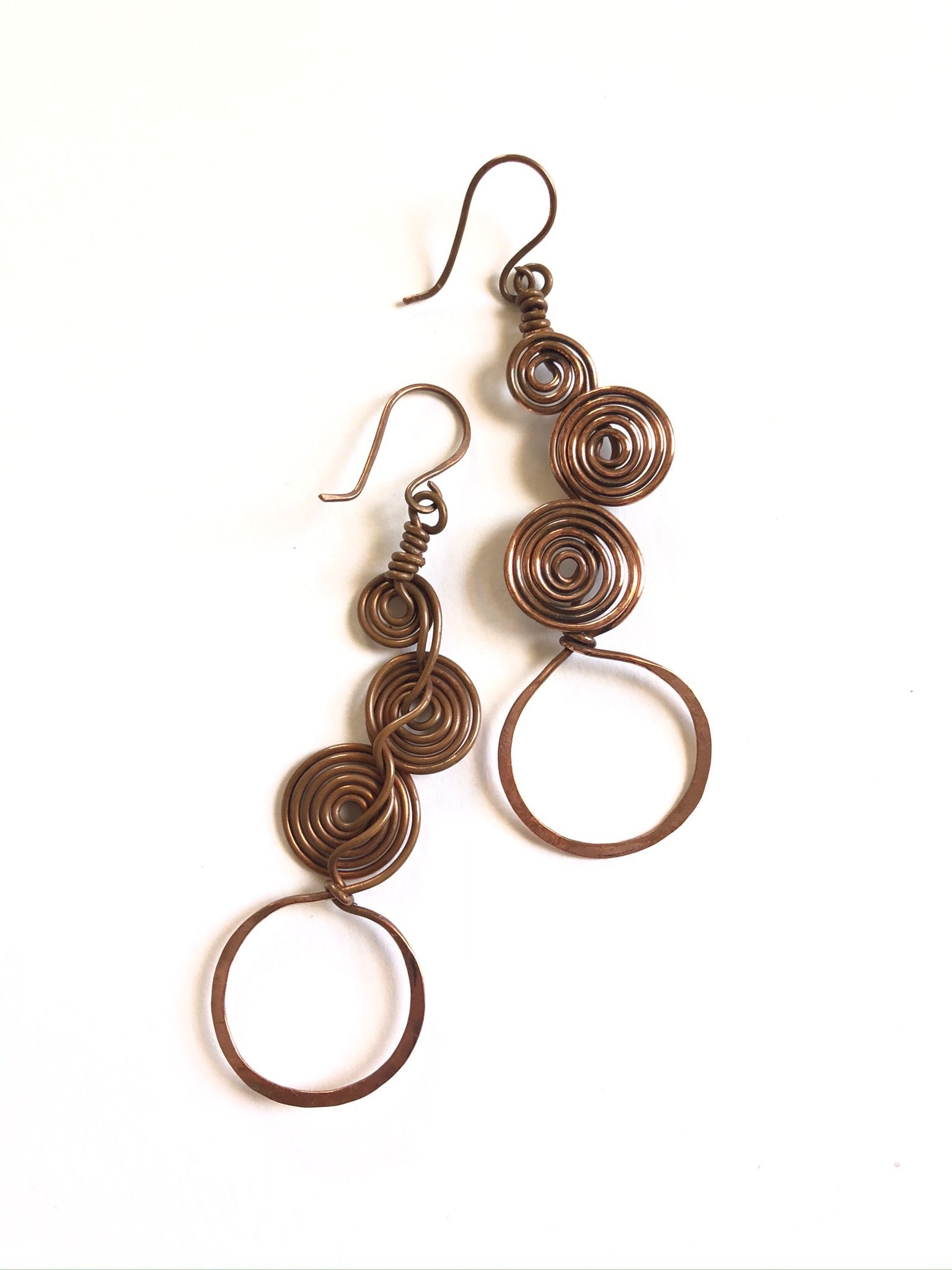Layered Coil Earrings