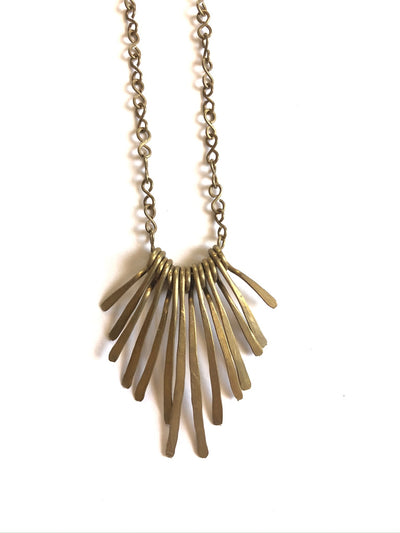 Hammered Fringe Necklace