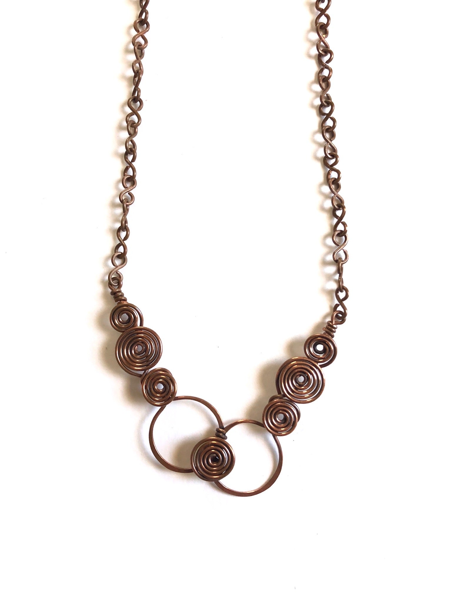 Layered Copper Coil Necklace
