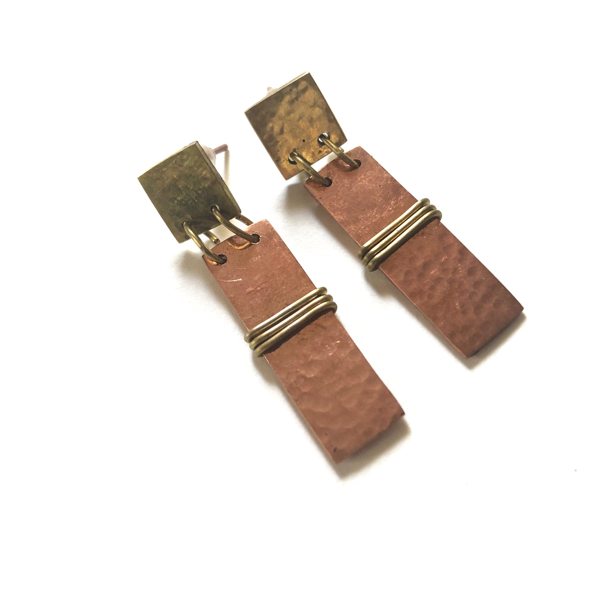 Wrapped Copper Earrings