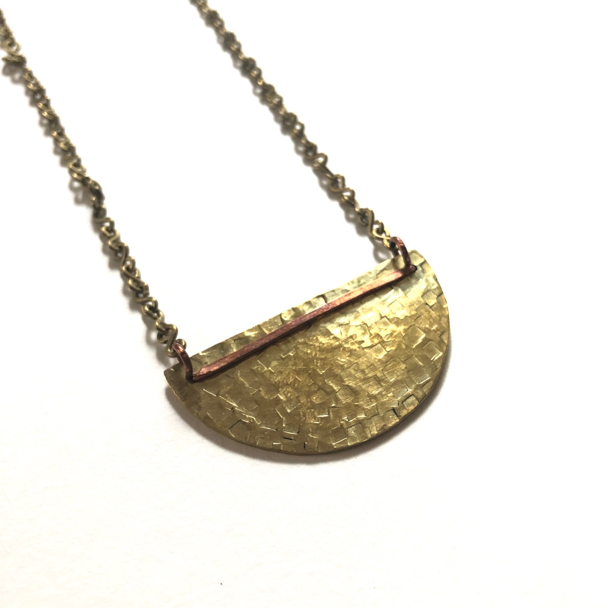 Hammered Semi-Circle Necklace