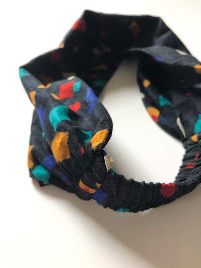 Vintage Cotton Hair Band - Colorful Confetti