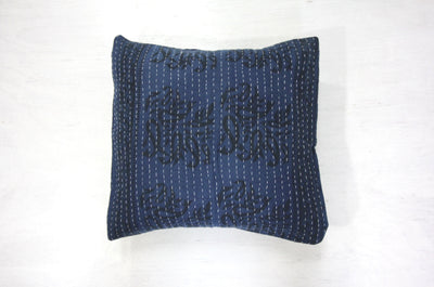 Indigo Cotton Cushion Cover - Small