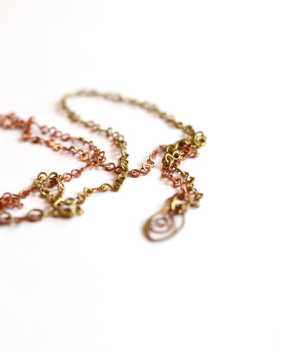Half and Half Brass and Copper Swing Pendant