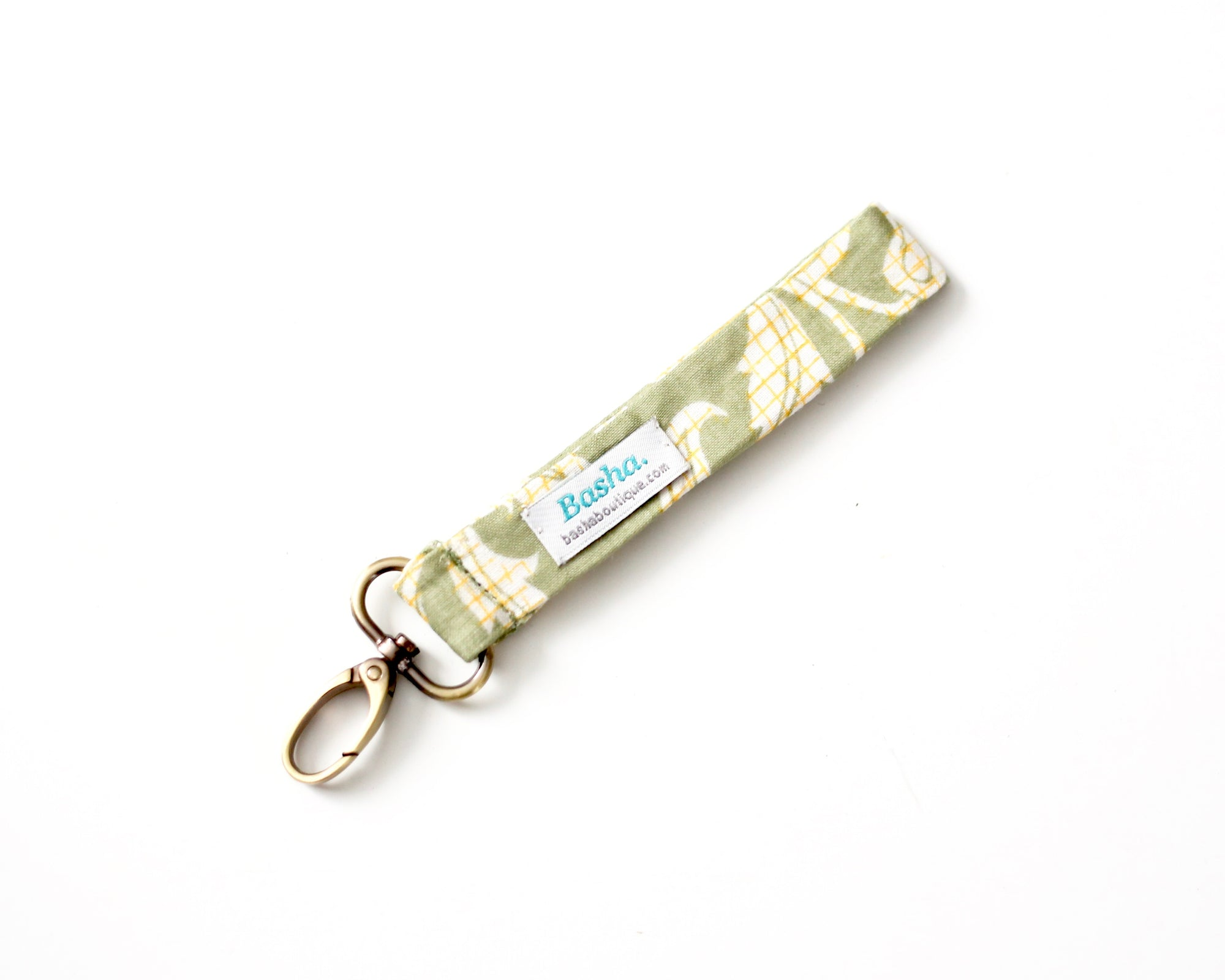 Vintage Cotton Keychain - Green