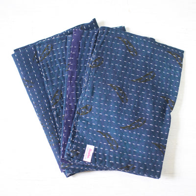 Indigo-Dyed Cotton Napkins - set of 4