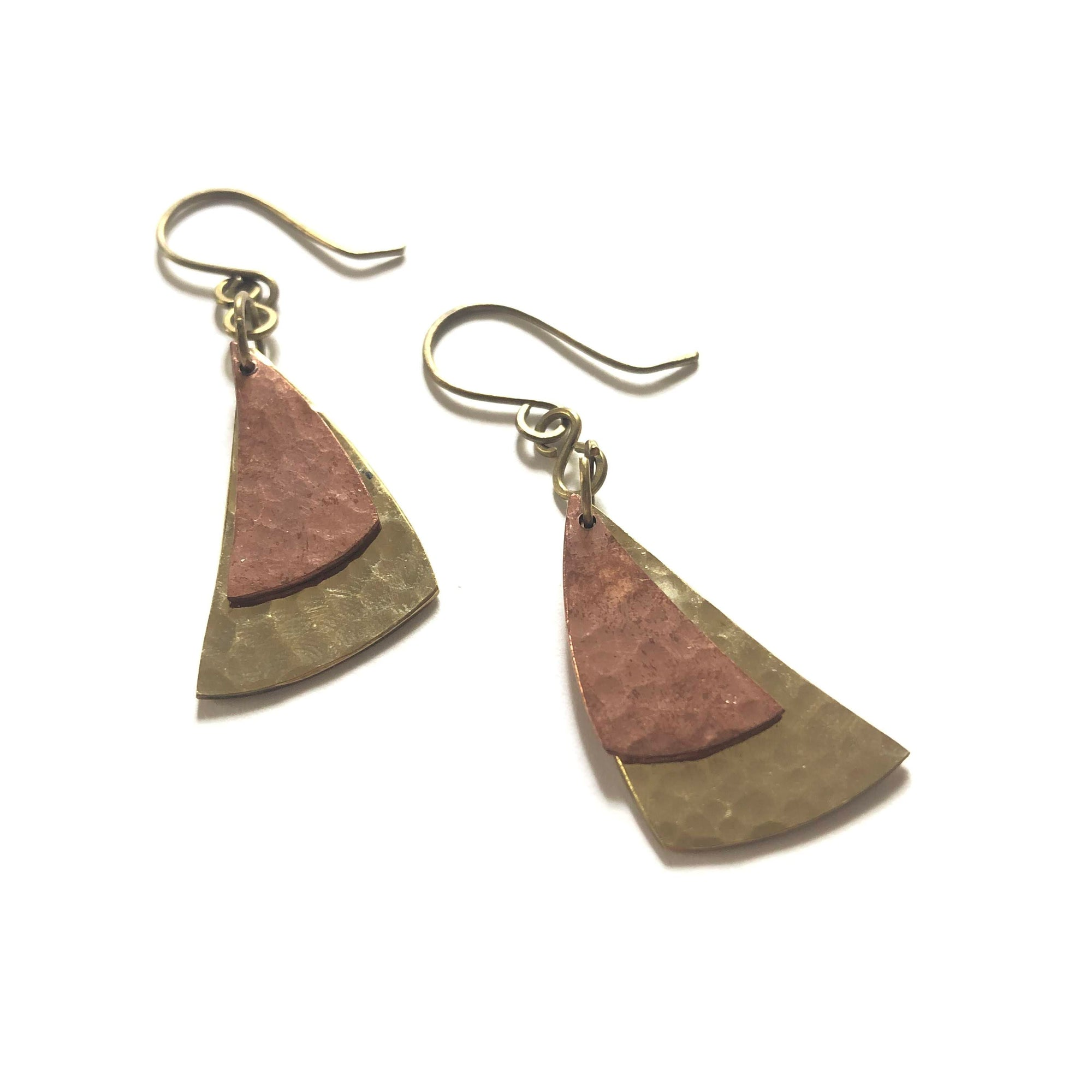 Curved Triangle Earrings