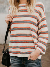 Load image into Gallery viewer, Nifty Casual Fashion Loose Strip Long Sleeve Sweater