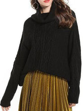 Load image into Gallery viewer, Sleeve-Necked Turtleneck Knit Sweater Loose Versatile Sweater