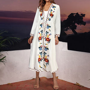 Summer V Collar Loose Yvacation Dress