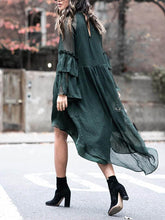 Load image into Gallery viewer, Solid Color Long Sleeve Loose Dress