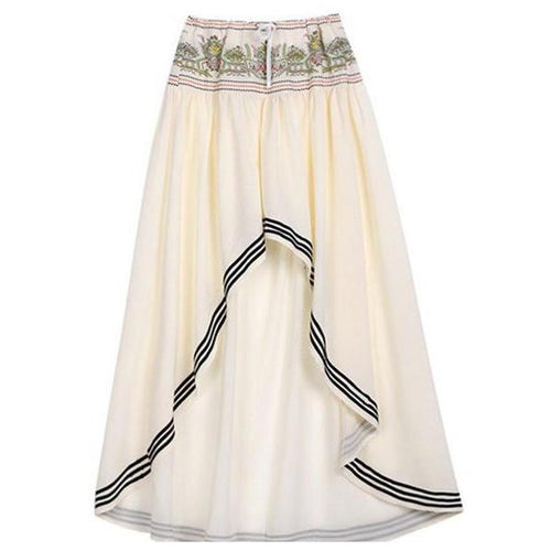 Bohemia Style Irregular Hem Beach Skirt