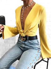 Load image into Gallery viewer, Fashion Flare Long Sleeve Plain Lace Up Cardigans