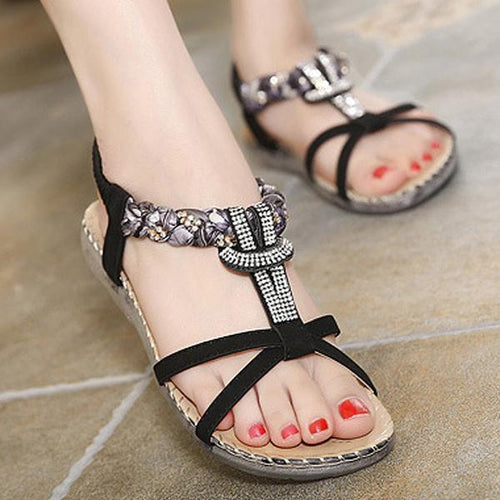 National Style Rhinestone Sandals