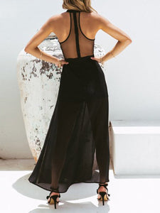 Sexy Sleeveless Chiffon Maxi Dress
