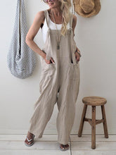 Load image into Gallery viewer, Fashion Spaghetti Straps Sleeveless Pocket Wide Leg Jumpsuits