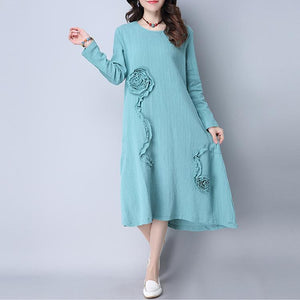 Cotton Linen Casual Dress