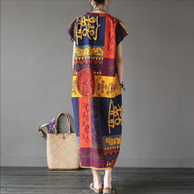 Load image into Gallery viewer, Round Neck Loose Maxi Dresses