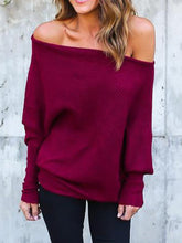 Load image into Gallery viewer, Open Shoulder  Plain  Sweaters