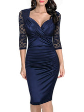 Load image into Gallery viewer, Sexy V-Neck Slim Bodycon Dress