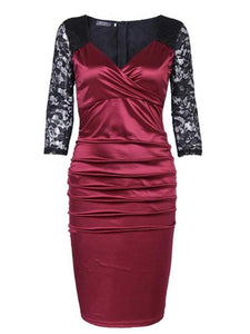 Sexy V-Neck Slim Bodycon Dress