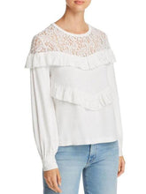 Load image into Gallery viewer, Round Neck  Lace Patchwork Plain  Blouses
