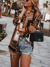 Load image into Gallery viewer, Fashion Leopard Print Long-Sleeved Shirt