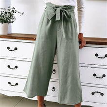 Load image into Gallery viewer, Pure Color High-Waisted Wide-Leg Pants