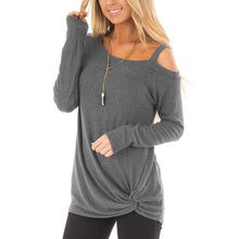 Load image into Gallery viewer, Fashion Long Sleeve Sexy Strapless T-Shirt