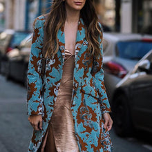 Load image into Gallery viewer, Vintage Floral Printed Loose Long Coat