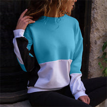 Load image into Gallery viewer, Fashion Round Collar Stitching Fleece