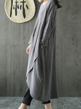 Load image into Gallery viewer, Casual National Style Loose Linen Maxi Dresses