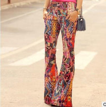 Load image into Gallery viewer, Bohemia Style Printed Loose Wide Leg  Pants