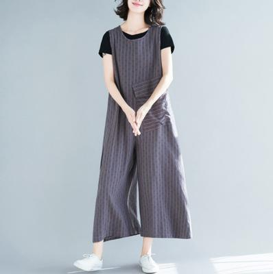 Casual Loose Pocket Wide Leg Jumpsuit