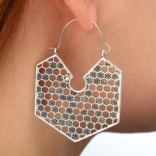 Load image into Gallery viewer, Bohemian Irregular Polygon Exaggerated Personality Earrings