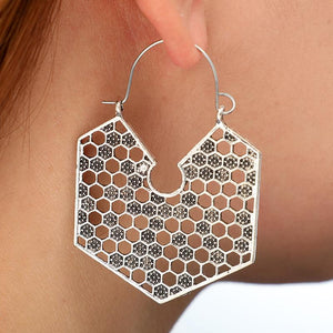 Bohemian Irregular Polygon Exaggerated Personality Earrings