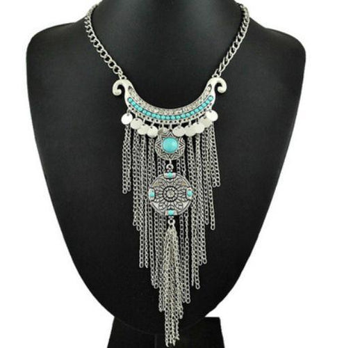 Vintage Fringed Temperament Long Necklace