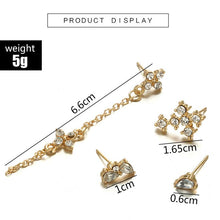 Load image into Gallery viewer, Vintage Fashion Water Diamond Chain Tassel Earrings  Geometry Drop Long Ear Nail Suit