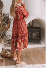 Load image into Gallery viewer, Printed Long Sleeve Maxi Dress