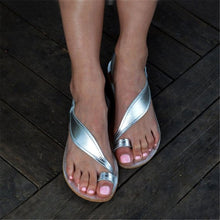 Load image into Gallery viewer, Concise Rhinestones Toe Ring Flat Sandals
