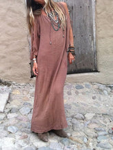 Load image into Gallery viewer, Vacation Bohemia Style Pleated Belted Slit Maxi Dress