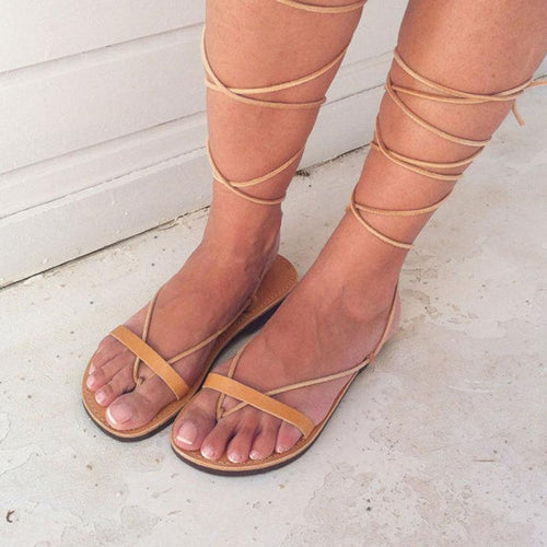 Summer New Cross Straps Flat Sandals