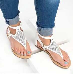 Summer New Flat Peep Toe Female Sandals