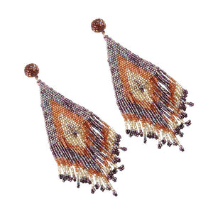 Colorful Fringed Bohemian Earrings