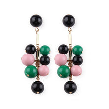 Load image into Gallery viewer, Fashion Color Bead Drop Earrings