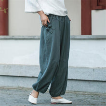 Load image into Gallery viewer, Daily Plain Cotton And Linen Loose Casual Jogger Pants