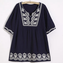 Load image into Gallery viewer, Fashion Tassel Inwrought Halflong Sleeve Loose Shirt