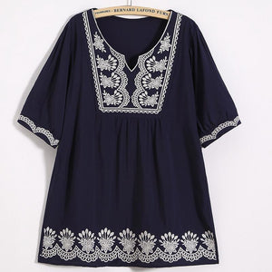 Fashion Tassel Inwrought Halflong Sleeve Loose Shirt