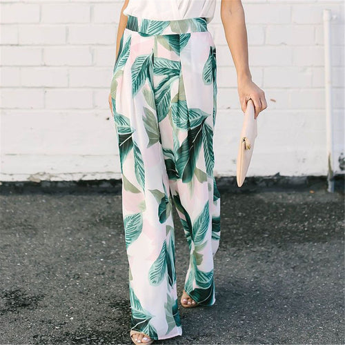 Fashion Printed Casual Loose Wide Leg