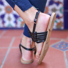 Load image into Gallery viewer, Fashion Vintage Woven Flat Sandals